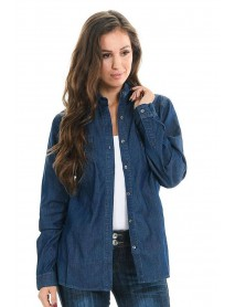 Sweet Look Women's Denim Blouse - Style Z019 - Size:2X-Large