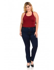 Sweet Look Women's Jeans - Missy Size - High Waist - Push Up - Style A089 - Size:10