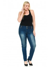 Sweet Look Premium Edition Women's Jeans - Plus Size - High Waist - Push Up - Style 001 - Size:16