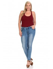 Sweet Look Premium Edition Women's Jeans - Plus Size - High Waist - Push Up - Style A280 - Size:16