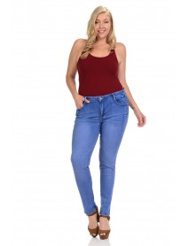 Sweet Look Premium Edition Women's Jeans - Plus Size - High Waist - Push Up - Style A282 - Size:16