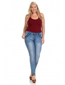 Sweet Look Premium Edition Women's Jeans - Plus Size - High Waist - Push Up - Style A283 - Size:14