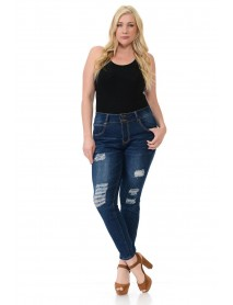 Sweet Look Premium Edition Women's Jeans - Plus Size - High Waist - Push Up - Style CH073HTM-R - Size:14
