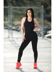 Sweet Look Women's Power Flex Yoga Pant Legging Sportswear - Style N804X - Size:Large