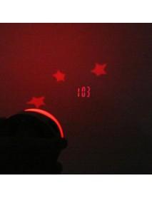 LED Laser Projector 3 color Night Light Alarm Clock