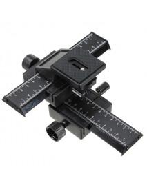 4-way Macro Shot Focusing Focus Rail Slider 1/4 Screw For DSLR