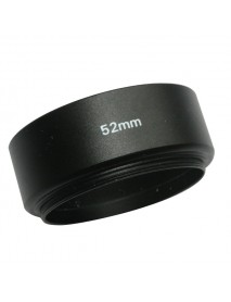 Emolux 52mm Metal Lens Hood For Canon/Nikon 50mm f1.8 Black