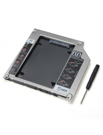 2ND SATA 2.5 Inch HDD Hard Drive Caddy Bay For MacBook Pro SuperDrive