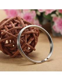 96-100Pcs 25mm Metal Split Rings Nickel Steel Hoop Key Rings