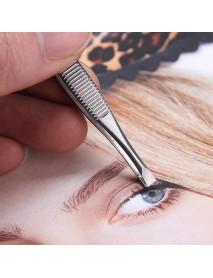 Stainless Steel Eyebrows Tweezers Hair Removal Clip