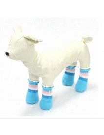 Cat Dog Boat Socks Pet Rickrack Colorful Stripe Pattern Cotton Anti-slip Socks