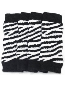 Black And White Stripe Cotton Knitting Pet Ankle Sock Knee Pad Boat Socks