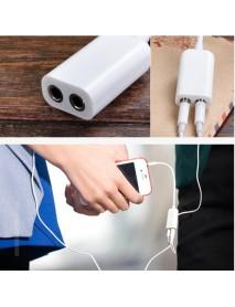 3.5mm Double Jack Line 1 to 2 Earphone Tieline For Smartphone