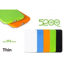 5200mAh Polymer Rechargeable Power Bank For Mobile Phone