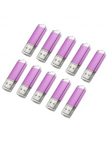 10 x 128MB USB 2.0 Flash Drive Candy Purple Memory Storage U Disk