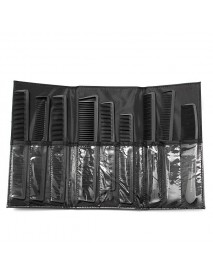 Carbon Fiber Hairdressing Anti Static Heat Resistant Hair Comb Set