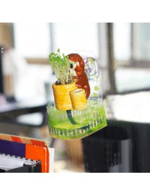 DIY Mini Ceramic Animal Chuck Potted Plant Desktop Office Decor