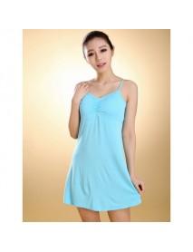 Female Modal Straps Pad Cup Vest Sleepwear Dress