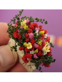 Mini Plant Decorative Handmade Clay Flower Yellow Lily Balcony Indoor Home Decor