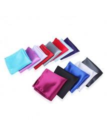 2pcs Satin Silk Men Suit Pocket Square Handkerchief Banquet Wedding Hanky