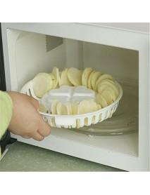 Kitchen Microwave Apple Potato Vegetable Crisp Chip Slicer Maker
