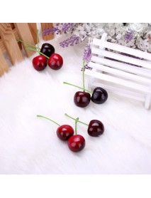 20pcs Foam Fruit Cherry Home Party kitchen Decorating Mould Learning Props