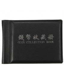 60 Coin Holders Collecting  Album Storage Penny Coins Pockets Album Book