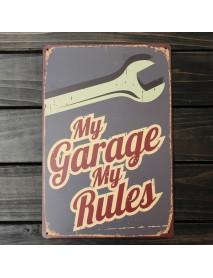 My Garage Tin Sign Vintage Metal Plaque Poster Bar Pub Home Wall Decor