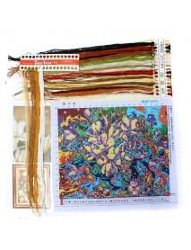 5244cm DIY Cross Stitch Gardenia Flower Needlework Kits Home Decor