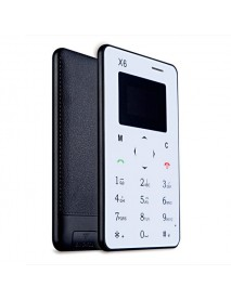 Aiek X6 4.5mm Ultra Thin FM Bluetooth Mini Pocket GSM Mobile Phone