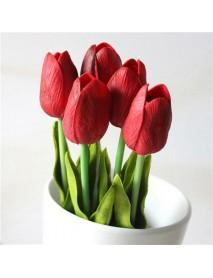 6 Colors Artificial Tulip Fresh Simulation Tulip Flowers Single Head PU Home Decor