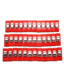 36 Pcs Plastic Red Wonder Quilting Craft Fabric Sewing Crochet Clips Clover