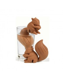 Silicon Squirrel Tea Loose Leaf Strainer Filter Infuser