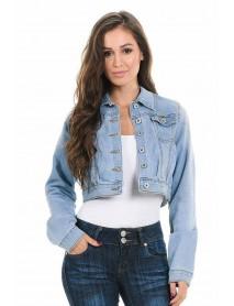 Sweet Look Women's Denim Jacket - Style 292 - Size:Large