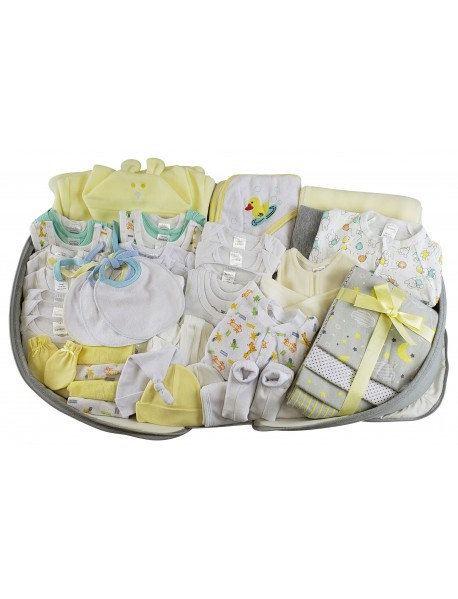 Unisex 62 pc Baby Clothing Starter Set with Diaper Bag