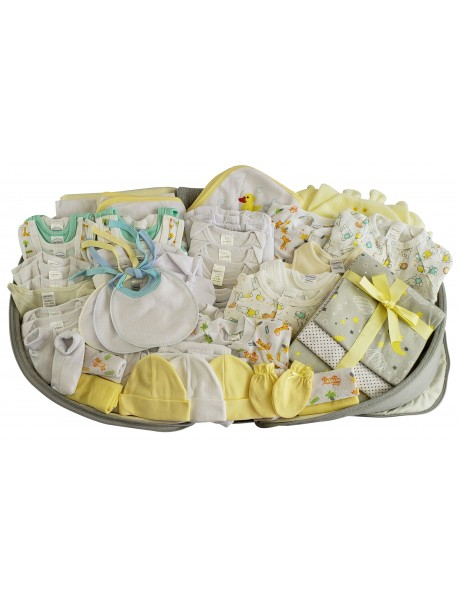 Unisex 80 pc Baby Clothing Starter Set with Diaper Bag