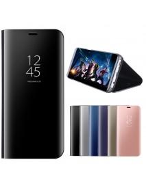 Mirror Window View Smart Sleep Bracket Case For Samsung Galaxy J3/J5/J7 EU Version 2017