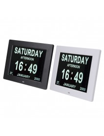 8 Inch LED LCD Dementia Table Digital Photo Frame Calendar Day Clock Date Week Month Year