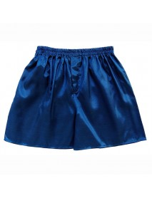 INCERUN Casual Mens Faux Silk Boxer Shorts Comfortable Breathable Sleepwear