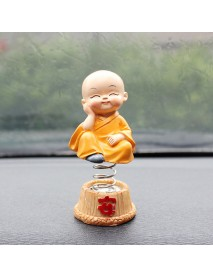 Car Decoration Four Is Not Small Monk Shaking Head Ornaments Creative Resin Car Car Shaking Head Ornaments