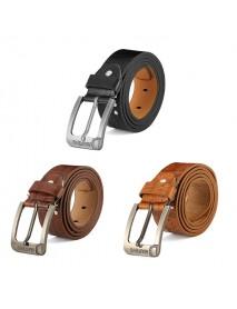 108CM Mens Retro Cowboy Belt Leisure Wild Hollow Rivet Punk Leather Pin Belt Waistband Strips
