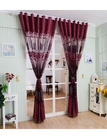 DYQ 250*100cm Living Room Curtain Floral Tulle Door Window Curtain Drape Panel Sheer Scarf Valances Glass Yarn Curtains