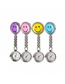 Portable Charm Smile Face Nurse Watch Stainless Steel Pocket Watches