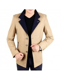 Men's Business Solid Color Single Breasted Suits Turn Down Collar Slim Blazers
