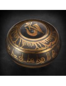 105mm Tibetan Yoga Singing Bowl Brass Buddhism Chime Resonance Meditation Chakara