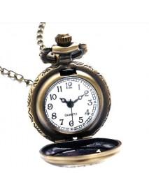 Alice In Wonderland Drink Me Rabbit Flower Key Pocket Watch
