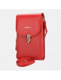 Baellerry Women Multi-Pocket Large Capacity Crossbody Bag Handbag Phone Bag Card Holder For Outdoor Daily