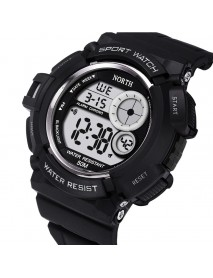 NORTH 2002 Sport Watch Men Waterproof LED Military Student Digital Watch