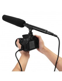 Arimic Professional Shotgun Interview Directional Condenser Microphone for DSLR DV Camcorders Video