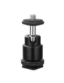1/4 inch Hot Shoe Ball Head for Camera Tripod LED Light Flash Bracket Holder Mount